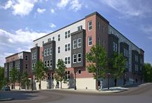 Photo Realistic Exterior Renders - Residential Development / Photo Realistic Visualization of a Multifamily, Eco Friendly Residential Development in Philadelphia.