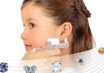 Earrings for Kids / Safe ear piercing and hypoallergenic earrings for children.