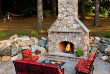Our Outdoor FirePlace Work / Nothing warms the soul like a fireplace.  It's magical… The warm, comforting glow of a fireplace on a cool evening, chatting late into the evening with family or a close friend. Incorporating a fireplace in your back yard plan is one of the surest ways of creating a special place where you can escape from the pressures of everyday life.