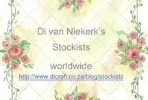 Silk ribbon embroidery supplies / Stockists in your area for Di van Niekerk products / by Di Van Niekerk