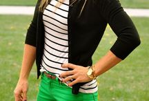 Black and white striped shirt ideas / Great board to look at for ideas on wearing my black and white striped shirt or my white and black striped shirt. / by Lee Anne Bourque