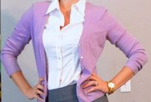 purple cardigan ideas / by Lee Anne Bourque