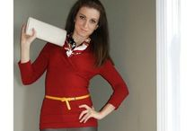 brick red sweater outfits / by Lee Anne Bourque