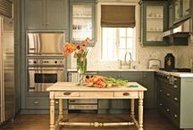Kitchens  / The kitchen is the heart of the home. Its more than a place where food is prepared. People gather and make connections here. I love country inspired kitchens with natural elements. Come on in!  / by Jessica Sutton