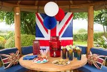 Gooo TeamGB!!! Our Olympics-themed Breeze House / In celebration of the 2016 Olympics we've styled a 'Team GB' Breeze House - red, white and blue all round, with quintessentially British accessories. A Breeze House is the perfect venue for a party with family and friends.