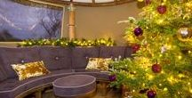 A Christmas Breeze House / Dressing your Breeze House for Christmas completely changes the feel of the space. With candles, fairy lights and cushions, you can cosy up inside and have the perfect Breeze House Christmas. Our Oval buildings even have space for a tree!