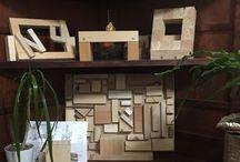Best Ideas Scrap wood Display / Scrap woods Blank Frame, initial name Frame, Standing Frame