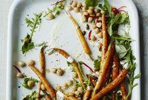 Comfort food < Roasted veggies >