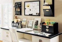 Office Space / Happy office decor and organizational ideas.