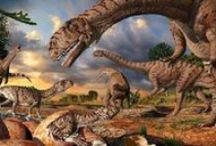 Un paseo entre Dinosaurios / Sabías que…  nuestro planeta Tierra tiene 4,54 mil millones de años, como veras son muchos, tanto que ha dado tiempo a que hayan pasado numerosas formas de vida sobre ella, especies que hace mucho se extinguieron y otras que en cambio evolucionaron y todavía forman parte de nuestro ecosistema. / by Escuela en la Nube