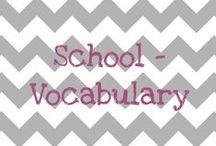 School - vocab