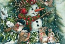 Vintage Christmas / ilustrações de Natal em Estilo Vintage / by Vilma Cacciaguerra