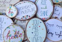 ~ Embroidery Hoop Craft ~