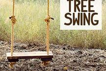 Tree Swings / Spend the summer outside, under the cool shade of your trees! Install a classic wood and rope swing or a new and innovative skateboard tree swing for two; either way, you will be happy you did.  / by The Davey Tree Expert Company