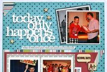 Scrapbook Ideas / Sketches, layouts, embellishments, quotes, and inspiration... / by Kinderdi2 S