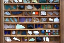 SEA GLASS / I started my sea glass collect in Cornwall, England June 2015