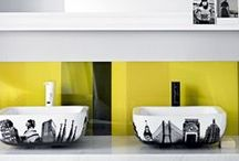 BATHROOMS/ Hello Yellow / The best in YELLOW: kitchens, bathrooms and design