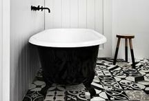 BATHROOMS/ Black & White / The best in black/white: kitchens, bathrooms and design