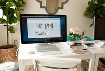 WORK SPACES / When you work from home, it's important to have a functional and creative space for a home office. This board is your inspiration for piecing together your dream home office and home office design tips!