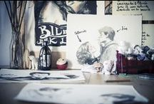 Paula Bonet / Las ilustraciones de Paula Bonet son dulces y delicadas, pero a la vez con una fuerza poética fascinante. Le encanta dibujar chicas dulces de mejillas sonrojadas y llenar sus retratos de palabras www.gnomo.eu/paulabonet
