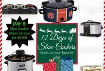 12 Days of Slow Cookers / 12 Days - Featuring 12 of my favorite slow cookers and the best deals on them! Free Shipping until 12/24/14!  ~~~~~~~~~~~~~~~~~~~~~~~~~~~~~~~~~~~~~~~~~~~~~~~~~~~~~~~~~~~~~~~~~~~~~~~~~~~~~~~~~~~~~~ FIND THEM AT:: bit.ly/crockpotdeals / by Jenn Bare | the Crock-Pot® Girl