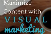 | VISUAL MARKETING | / Learn how to maximize your content with visual marketing which will power your social media marketing. Visual marketing is the key to content marketing success!