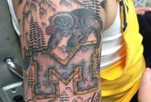 Michigan Tattoos / Michiganders ink up to show their school and state pride.