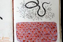 Art Journal Inspiration / Sketchbooks, art journals, altered books, drawing on book pages, mixed media art.