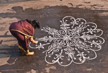 rangoli / kolam / Rangoli was inspiration for the collection 'Rangoli'.