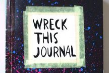 wreck this journal / Inspiration for my own Wreck This Journal