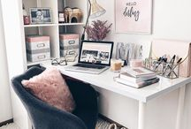 Art Studio Inspiration / Inspiration for the perfect home office / art studio space in which to create. A girl can dream, right?
