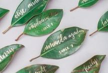 WEDDING DIY / Ideas for a DIY and handmade wedding, diy tutorials, wedding diy, wedding decorations, reception decor, wedding decor, wedding diy ideas, flowers, wedding favors, escort cards, garlands, centerpieces, signs, backdrops, calligraphy, invitations, floral arrangements, greenery