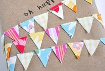 Bunting! / Bunting everywhere and in every colour! What's not to love?