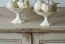 white pumpkins ... halloween
