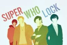 Merlin & SUPERWHOLOCK / This started off as a Sherlock board and then it kind of turned into this... / by Madeline Stevens