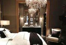 Romantic Bedroom / Romantic Bedroom is White, Black, Dark Gray, Cream & Burgundy.