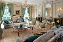 """Home sweet Home / Rooms & Suites take on the air of an elegant 18th century home and exquisite marble bathrooms. Charles Jouffre, the designer, shares the same philosophy as Le Meurice: to cultivate the mark of the eighteenth-century heritage through noble and truly traditional fabrics, panelling, light fittings, parquet floors, re-imagined furniture, instilling a sense of intimacy and well being to create a """"Home sweet Home"""" à la française, a style envied throughout the world. / by Le Meurice"""