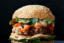 "Meatless ""Burgers"" / #veggie burgers #bean burgers #quinoa burgers / by Kristine Bets"