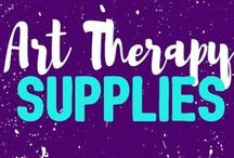 Art Therapy Supplies / A collection of useful art supplies used in Art Therapy