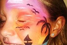 Face Painting for Events / Face painting ideas for Halloween and Fall Festivals.
