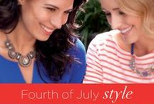 Fourth of July style / Get in the holiday spirit with these patriotic looks.  / by lia sophia