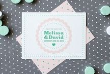 Cake / Sometimes, simple is best. Cute, simple and with a dash of hipster, our cake wedding invitation and stationery set has the right mix. Polka dots, scalloped edges and cheery fonts combine for an invite with personality but few other elements give it a modern feel.