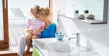 The Family Bathroom / In the family bathroom young foam fighters can have great fun and later, as teenagers, go on to create pandemonium in the mornings. At the same time, parents see the bathroom as a private space to relax in a comfortable atmosphere. A delicate balancing act…