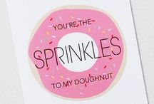 Foodie Love / Sweet and cheeky greeting cards for the foodie in your life.