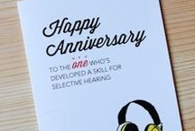 Happy Anniversary! / Our cheeky greeting cards for anyone who's part of a pair (official or otherwise).