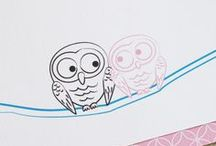 Kelly + Taka / This project was really fun to do! Working with a Chinese bride and Japanese groom, we designed modern and whimsical multi-language wedding invitations. And they love owls, too!