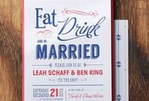 Leah + Ben / Leah + Ben didn't want anything too fancy or fussy but they did want an invitation that would stand out and show personality. Inspired by vintage show posters, we created a modern take for their wedding day.