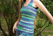 Haken kleding | crochet cloths / Gratis haakpatronen van sjaals, topjes, vesten, truien, enz.