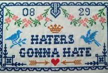 Not my work but I love these / These make me laugh. / by Subversive Cross Stitch