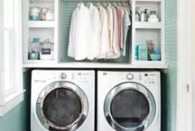 Laundry Room Remodeling Ideas / Fun ideas to spruce up your laundry Room a bit!